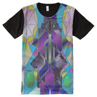 Janela do mar camiseta com impressão frontal completa