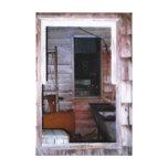 Janela em uma foto velha rústica de Windows do cel Impressão De Canvas Esticada