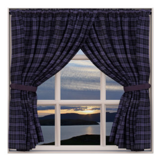 Janela falsificada: Luz da noite em Scotland Pôster