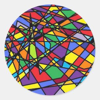 Janela quebrada arte do vitral adesivo