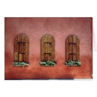 janelas cartão comemorativo