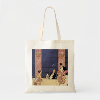 Jantar da multa do art deco sacola tote budget