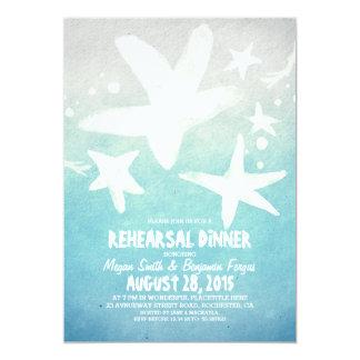 jantar de ensaio azul da praia da estrela do mar convite 12.7 x 17.78cm