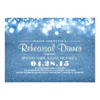 jantar de ensaio azul das luzes do brilho & da convite personalizado