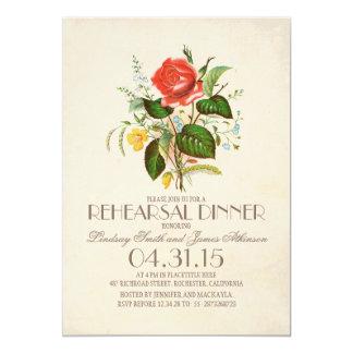 jantar de ensaio clássico da flor da aguarela do convite 12.7 x 17.78cm