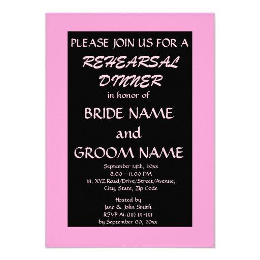 Jantar de ensaio convite personalizados