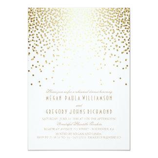Jantar de ensaio do art deco dos confetes do convite 12.7 x 17.78cm