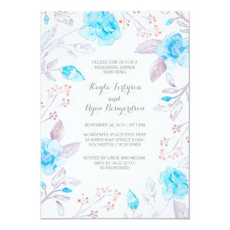 Jantar de ensaio do azul de Tiffany do buquê Convite 12.7 X 17.78cm