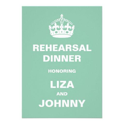 Jantar de ensaio do casamento convites personalizados
