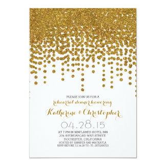 jantar de ensaio dos confetes da folha do brilho convite personalizados