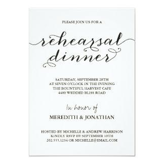 Jantar de ensaio elegante convites personalizado