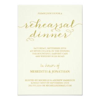 Jantar de ensaio elegante convites