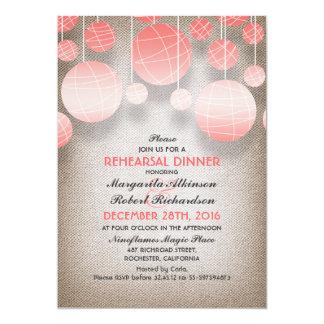 jantar de ensaio elegante de serapilheira das convites personalizado