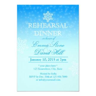 Jantar de ensaio elegante do casamento no inverno convite 12.7 x 17.78cm