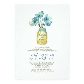 JANTAR DE ENSAIO floral da aguarela Convite 12.7 X 17.78cm