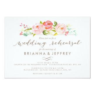 Jantar de ensaio floral do casamento do jardim de convite 12.7 x 17.78cm