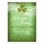 Jantar de ensaio irlandês do trevo & do casamento convite 12.7 x 17.78cm