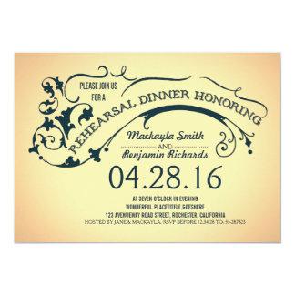Jantar de ensaio moderno da tipografia & dos convite 12.7 x 17.78cm