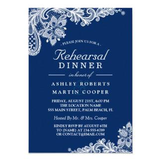Jantar de ensaio moderno do casamento do laço dos convite 12.7 x 17.78cm
