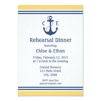 Jantar de ensaio náutico convite