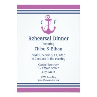 Jantar de ensaio náutico convites personalizados
