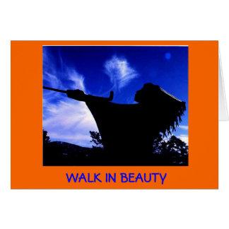 Jante a caminhada (do Navajo   ) no cartão da
