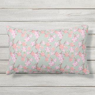Japão. Flores florais cor-de-rosa Almofada Lombar
