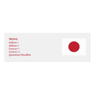 Japão - magro cartão de visita skinny