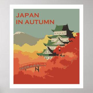 Japão no outono (anúncios do vintage) poster