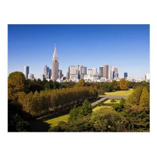 Japão Tokyo Skyline do distrito de Shinjuku e Cartoes Postais