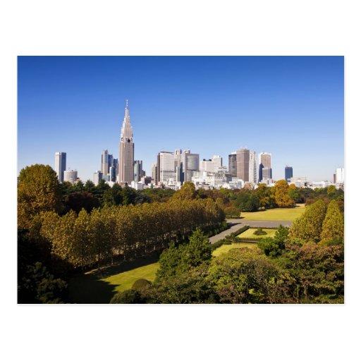 Japão. Tokyo. Skyline do distrito de Shinjuku e Cartoes Postais