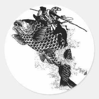 Japonês Adesivo Redondo