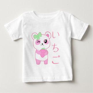 Japonês bonito do urso de panda de Kawaii do rosa Tshirt