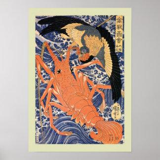 Japonês Woodblock Pôster