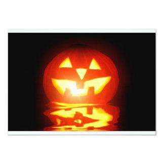jaque-o-lanterna da abóbora do Dia das Bruxas Convite 12.7 X 17.78cm
