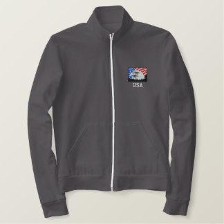 Jaqueta americana da trilha do velo da águia
