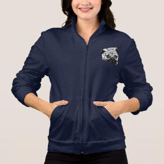 Jaqueta americana da trilha do velo das mulheres