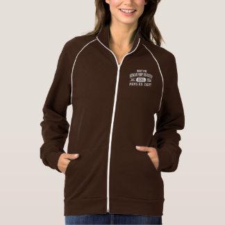 Jaqueta americana da trilha do velo de Calif do Jaquetas Estampadas