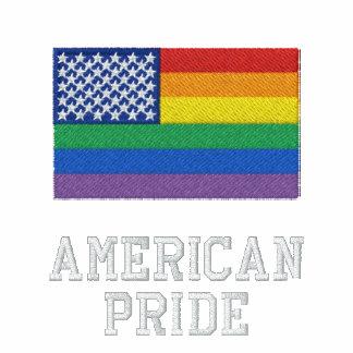 Jaqueta americana da trilha do velo do orgulho