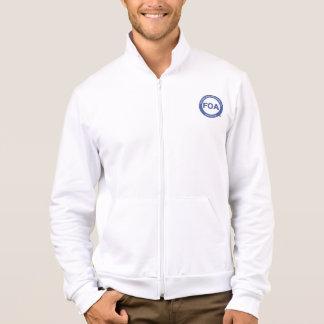Jaqueta americana do velo do roupa do logotipo da