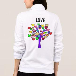 Jaqueta AMOR bonito do impressão colorido da árvore dos