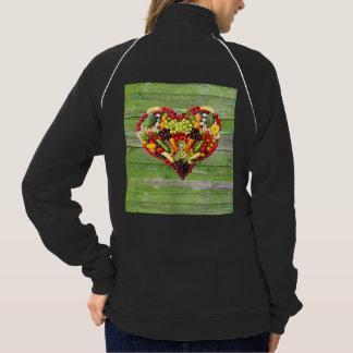 Jaqueta AMOR do VEGAN - sua madeira do verde do coração
