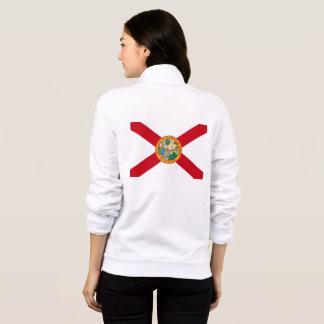 Jaqueta Bandeira do basculador do fecho de correr do velo