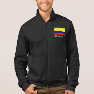Jaqueta Basculador do velo da bandeira de Colômbia