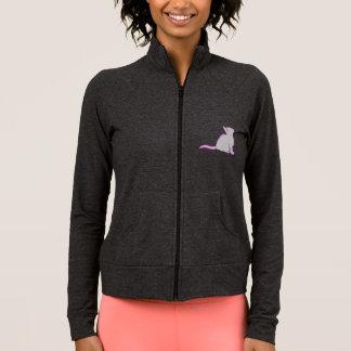Jaqueta Combinado: logotipo/gato cor-de-rosa, suficiência