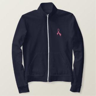 Jaqueta cor-de-rosa da trilha do velo da fita da
