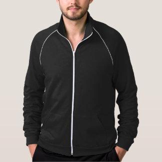 Jaqueta customizável da trilha do velo jaqueta estampada