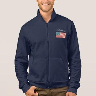 Jaqueta da bandeira americana do vintage