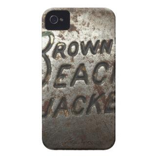 Jaqueta da praia de Brown Capinha iPhone 4