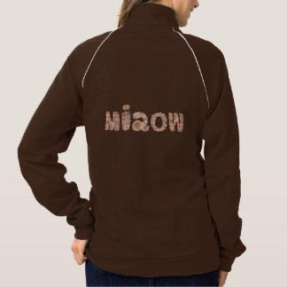 Jaqueta da trilha das mulheres com 'miaow